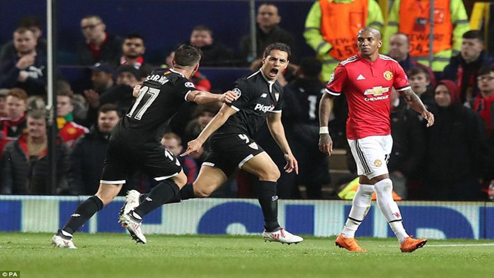 Sevilla loại M.U khỏi Champions League ngay tại Old Trafford